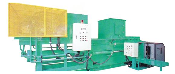 廃プラ圧縮梱包機 横型